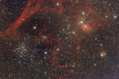 IC417 and Messier 37 in Auriga